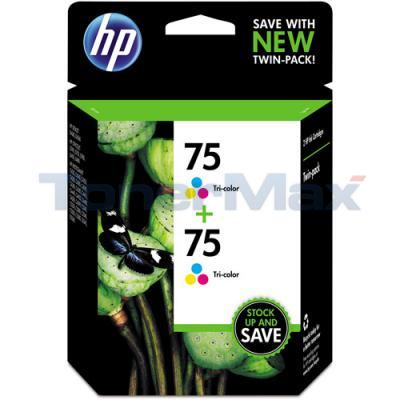 HP NO 75 INK CARTRIDGE TRI-COLOR TWIN PACK